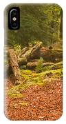 Spruce Logs Leith Hill Surrey 2014 IPhone Case