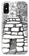 Square Rock Fairy House And Squirrel IPhone Case