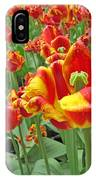 Square Yellow And Red Tulips IPhone Case