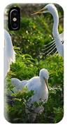 Squawk Of The Great Egret IPhone Case