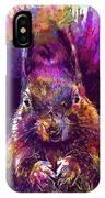 Squirrel Animals Possierlich Nager  IPhone Case