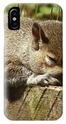 Squirrel Nap IPhone Case