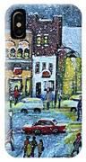 Snowing In Concord Center IPhone Case