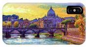 St Angelo Bridge Ponte St Angelo Rome IPhone X Case