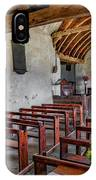 St Celynnin Church  Interior IPhone Case