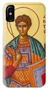 St Demetrios The Great Martyr And Myrrhstreamer IPhone Case