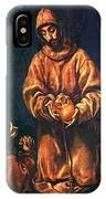 St Francis And Brother Rufus 1606 IPhone Case