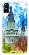 St. Louis Cathedral - Paint IPhone Case