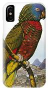 St Lucia Amazon Parrot IPhone Case
