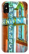 St Luke Church Of God In Christ Dsc2907 IPhone Case