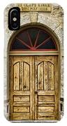 St Olafs Kirke Door IPhone Case
