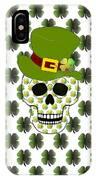 St Paddys Skull  IPhone Case
