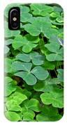 St Patricks Day Shamrocks - First Green Of Spring IPhone Case