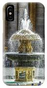 St. Peter's Square Fountain At The Vatican IPhone Case