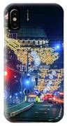 St. Sava Temple In Belgrade Playing Hide And Seek With The Christmas Decorations IPhone Case