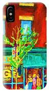 St Viateur Bagel Shop IPhone Case