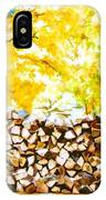 Stack Of Firewood IPhone Case
