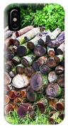 Stacked Firewood IPhone Case