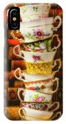 Stacked High Tea Cups IPhone Case