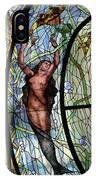 Stain Glass Set 3 - Bath House - Hot Springs, Ar IPhone Case