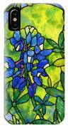 Stained Glass Bluebonnet IPhone Case