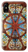 Stained Glass Ceiling Window IPhone Case