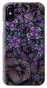 Stained Glass Floral II IPhone Case