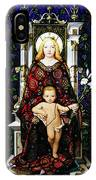 Stained Glass Of Virgin Mary IPhone Case