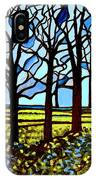 Stained Glass Trees IPhone Case