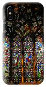 Stained Glass Window Christ Church Cathedral 1 IPhone Case