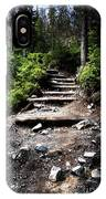 Stair Stone Walkway In The Forest IPhone Case