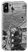 Stairs To Nowhere Pismo Beach Black And White IPhone Case by Priya Ghose
