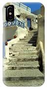 Stairway In Santorini IPhone Case