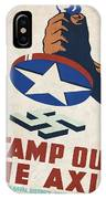 Stamp Out The Axis - Vintagelized IPhone Case