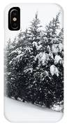 Standing Guard In Snow IPhone Case
