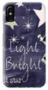 Star Light Star Bright Chalk Board Nursery Rhyme IPhone Case