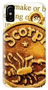 Star Sign In Scorpio IPhone Case