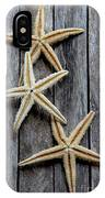 Starfishes In Wooden IPhone Case