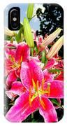 Stargazer Lilies #2 IPhone Case