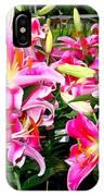 Stargazer Lilies #5 IPhone Case