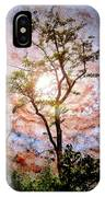 Starry Night Fantasy, Tree Silhouette IPhone Case