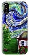Starry Night Over Grandma's Cabin IPhone Case