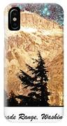 Starry Night Over Mount Baker IPhone Case