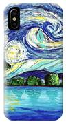 Starry Night Over The Lake IPhone Case