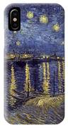 Starry Night Over The Rhone IPhone X Case
