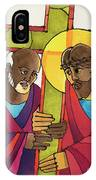 Stations Of The Cross - 05 Simon Helps Jesus Carry The Cross - Mmshj IPhone Case