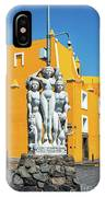 Statue And Yellow Theater IPhone Case