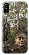 Statue Heads Ankor Thom IPhone Case