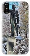 Statue In The Snow IPhone Case