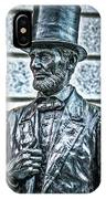 Statue Of Abraham Lincoln #7 IPhone Case